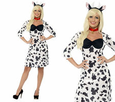 Cow Costume Ladies Farm Animal Dress Fancy Dress Cows Outfit