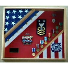USCG Cutter Shadow Box Top Quality Wood Hand Made By Veterans