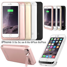 External Power bank Pack backup battery Charger Case For iPhone 5s SE 6 6s Plus