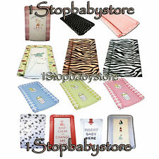 SOFT PADDED DELUXE BABY CHANGING MAT WATER PROOF DIFFERENT DESIGNS BRAND NEW