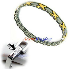 ACCENTS KINGDOM HUGS & KISSES STAINLESS STEEL MAGNETIC GOLF BRACELET A