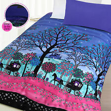 Enchanted Forest Girl's Glow In The Dark Quilt Doona Cover Set - Single Double