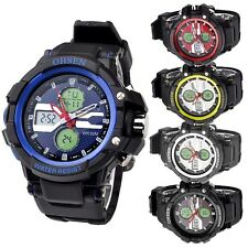 OHSEN Unisex Boys Dual Display Light Alarm Chronograph Sport Wrist Stop Watch