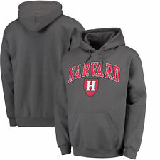 Harvard Crimson Campus Pullover Hoodie - Charcoal - College