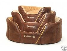 Pet Donut Bed Cat Dog Puppy Oval Basket Cushion Washable Comfort Pillow Brown