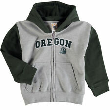 Oregon Ducks Infant Raglan Full-Zip Fleece Hoodie - Gray/Green - NCAA