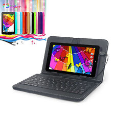 """7"""" Quad Core Google Android 4.4 8GB HD Tablet PC Dual Camera 1.2GHz w/ Keyboad"""