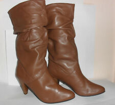 Spot-on Ladies Tan Leather Boot F5174 pull-on (R5A)