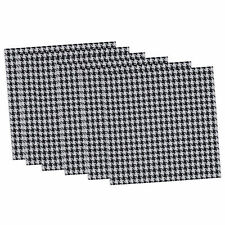 Black and White Houndstooth Placemat (Set of 6)
