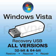*#1 WINDOWS VISTA Recovery USB Install Restore USB Flash Drive ALL IN ONE