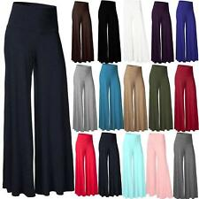 Vintage Women Ladie Strentch High Waist Flare Wide Leg Long Pant Palazzo Trouser