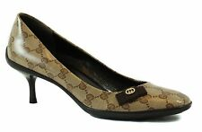 GUCCI 317043 Crystal Canvas GG Guccissima Bow Tie Pumps 37 US7