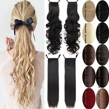 Long Ponytail Clip In Hair Extension Wrap Pony Tail Fake Hairpiece as human f1r