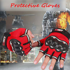 Motor Motorcycle Motocross Half Finger Gloves Riding Cycling Off-Road Gloves NEW