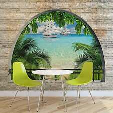 WALL MURAL PHOTO WALLPAPER XXL Beach Tropical Island Window View (2842WS)