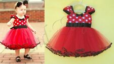 Baby Todder Girl Clothes Flower Polka Dot Wedding Party Pageant Fancy TUTU Dress