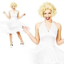 Hollywood Starlet Costume Marilyn Monroe Ladies Fancy Dress Outfit Size 6/24