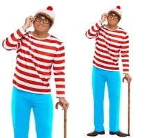 Wheres Wally? Mens Licensed TV Book Week Fancy Dress Costume S-XL