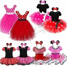 Kids Girls Baby Toddler Minnie Mouse Halloween Outfits Cosplay Dress Up Costume