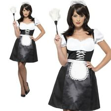 Ladies Sexy French Maid Fancy Dress Costume Maids Outfit Sizes XS-XL