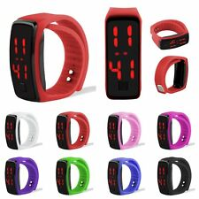 Hot Mens Womens Unisex Silicone Red LED Sport Bracelet Touch Digital Wrist Watch