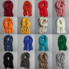 Womens Mens Long Wool Warm Knit Scarf Shawl Thick Winter Wrap Neck Soft Stole