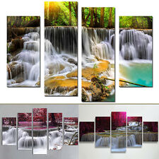 Fashion Waterfall Scenery Canvas Frameless Painting Wall Art Home Decor Bluelans