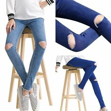 Pregnant Women Abdominal Maternity Denim Skinny Pants Slim Jeans Belly Trousers