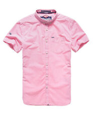 New Mens Superdry London Button Down Shirt Hartwell Pink Gingha