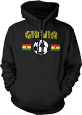 Ghana Flag Soccer Ball - Ghanaian Pride Country Colors Hoodie Pullover