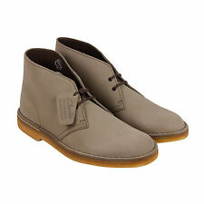 Clarks Desert Boot Mens Beige Suede Casual Dress Lace Up Boots Shoes