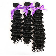 Natural Black African Womens Long Kinky Wavy Curly Synthetic Hair Weft Extension