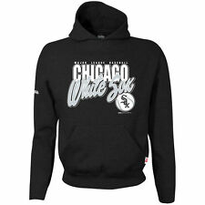Chicago White Sox Stitches Youth Team Logo Pullover Hoodie - Black - MLB