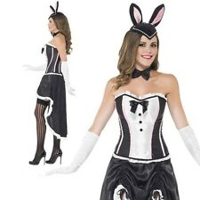Burlesque Bunny Costume Ladies Show Girl Rabbit Fancy Dress Outfit