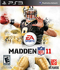 Madden NFL 11 (Sony PlayStation 3, 2010) PS3 In Original case all paper work inc