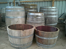 Wine Barrels For Sale.  Halves and Whole, various sizes available.