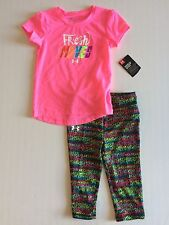 NWT Toddler Girl's Under Armour Fresh Moves 2 Piece Outfit