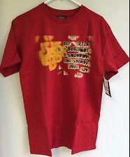 NEW Burton Snowboard Mens Tee T-Shirt Last Night Cardinal Red MD - Free US Ship!