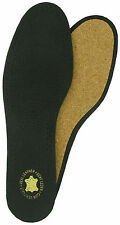 Leather & Cork Deluxe Insoles Black SIZES UK 3-13