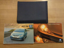 Peugeot 307 SW Owners Handbook/Manual and Wallet 01-05