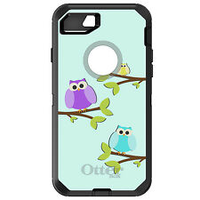 CUSTOM OtterBox Defender for iPhone 6 6S 7 PLUS Blue Purple Yellow Owls
