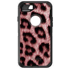 CUSTOM OtterBox Defender for iPhone 6 6S 7 PLUS Red Black Leopard Fur Skin