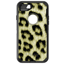 CUSTOM OtterBox Defender for iPhone 6 6S 7 PLUS Yellow Black Leopard Fur Skin