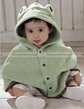 New Children Kid Baby Boy Girl Lovely Hooded Cape Cloak Mantle Trench Coat S8