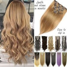 8Pcs Clip In Hair Extensions Long Full Head Real Silky New Hair Extentions Tih