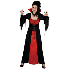 Ladies Classic Vampiress Halloween Costume for Fancy Dress Womens