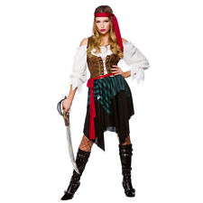 Ladies Caribbean Pirate Woman Costume for Sea Buccaneer Fancy Dress Womens