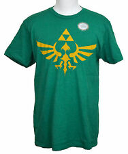 Legend of Zelda T-shirt Nintendo Video Game Graphic Tee Kelly Green / Gray NWT