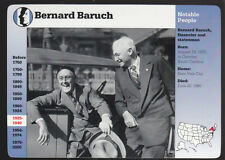 BERNARD BARUCH Franklin Roosevelt FDR Photo 1997 GROLIER STORY OF AMERICA CARD