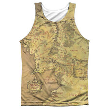 Lord of the Rings Middle Earth Map FB Print Mens Sublimation Tank Top Shirt